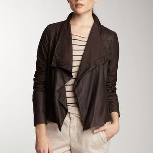 Vince. Truffle Cowl Leather Jacket sz Large